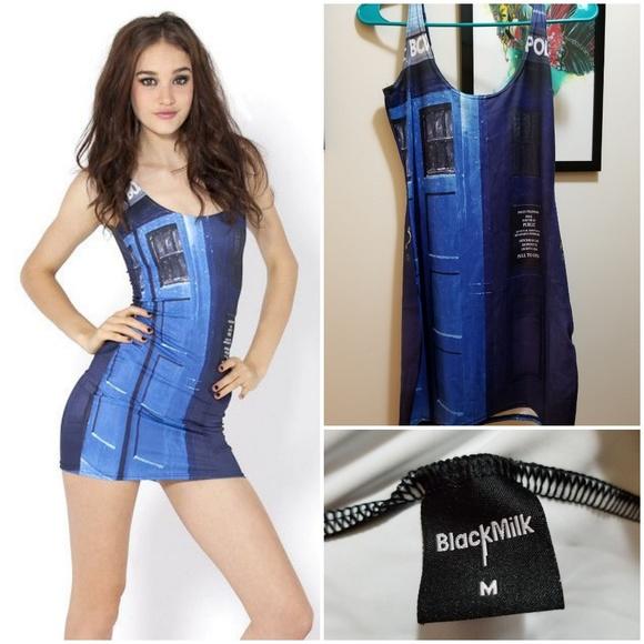 ffe774c0099 Blackmilk Pants | M Black Milk Police Box Bodycon Dress Doctor Who ...